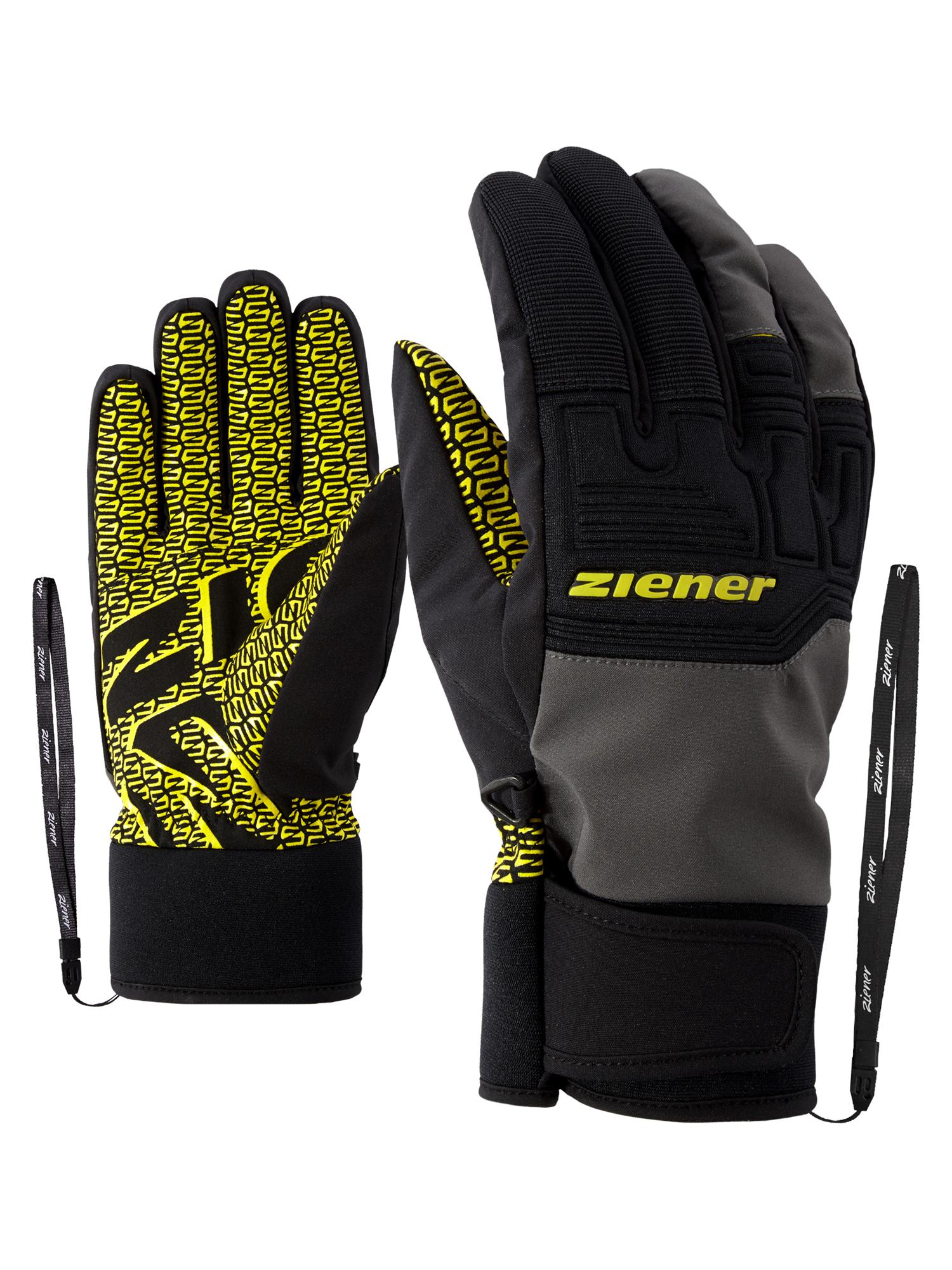 Snowboard Handschuhe Gloves ZIENER AGIL AS JUNIOR Handschuh 2020 black magnet