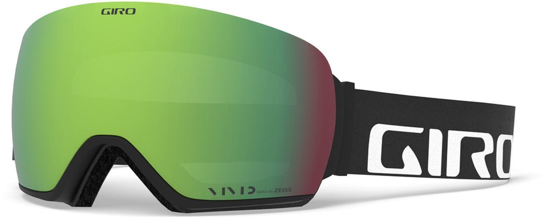 61618618e3e ARTICLE Goggle 2019 black wordmark vivid emerald + vivid infrared. GIRO