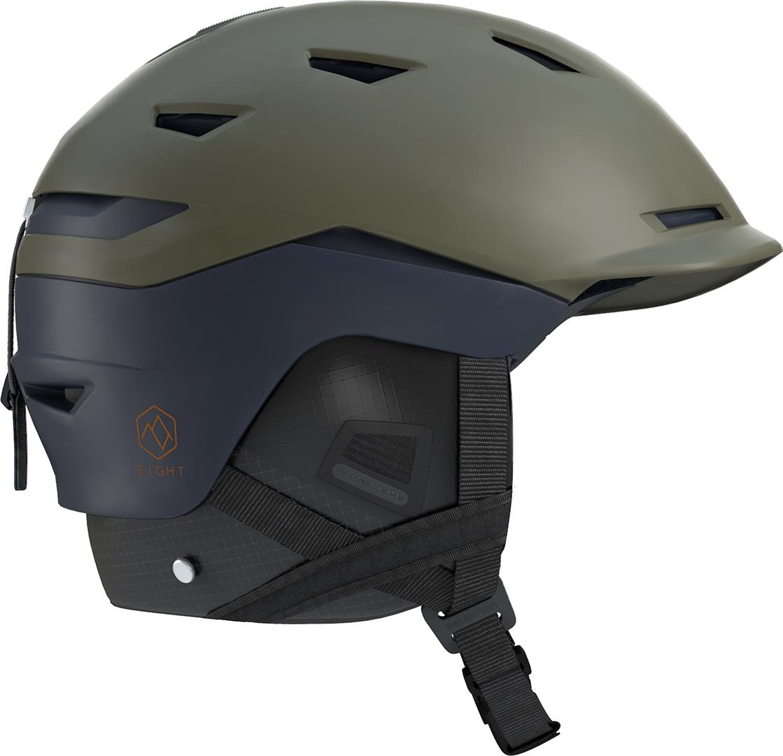 Details zu Snowboard Helme SALOMON SIGHT Helm 2019 olive nightdress blue Helmet