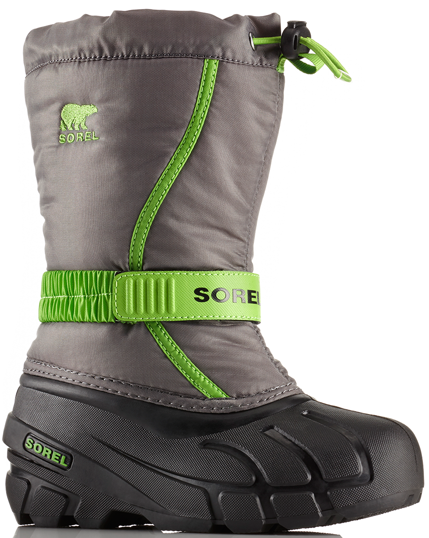 sorel flurry youth schuh 2018 quarry cyber green schuhe ebay. Black Bedroom Furniture Sets. Home Design Ideas