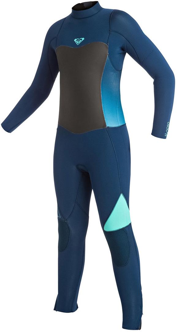 40885510b1 Roxy GIRLS SYNCRO 4 3 BACKZIP Full Suit blue print