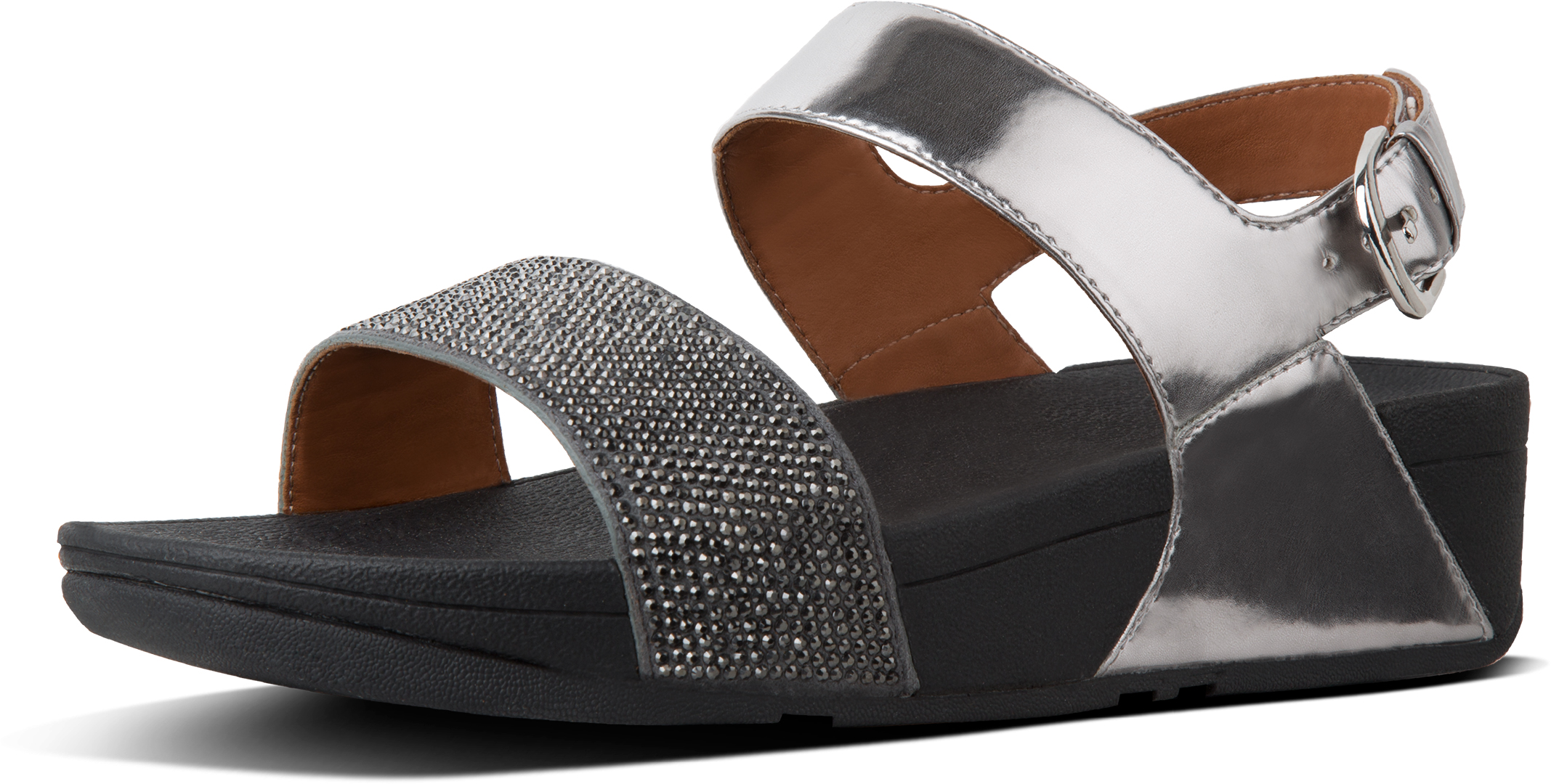 98453995e55 Fitflop RITZY BACK-STRAP Sandal 2018 pewter
