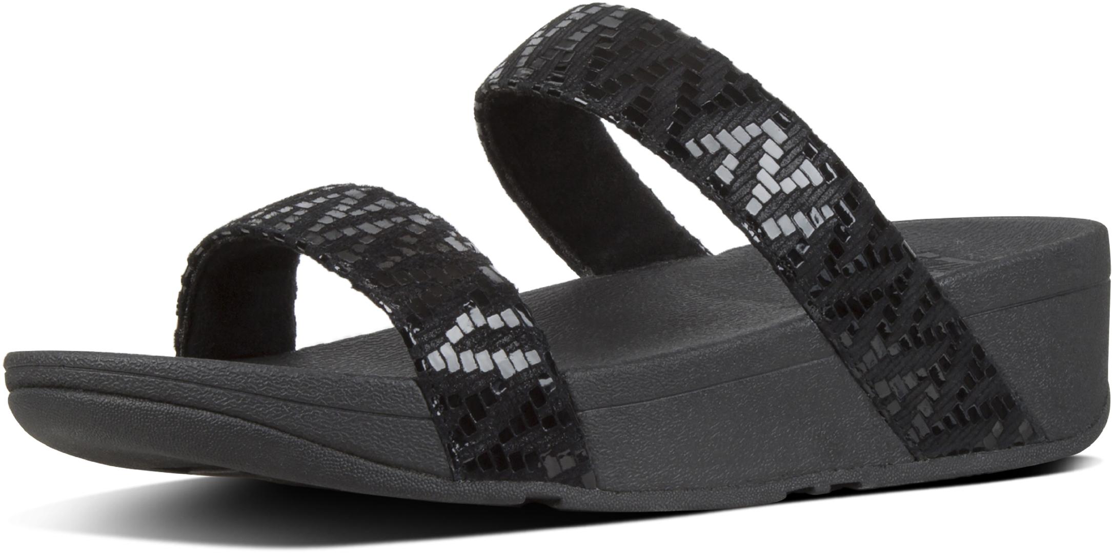129efe840994 Fitflop LOTTIE CHEVRON SLIDE Sandal 2019 black