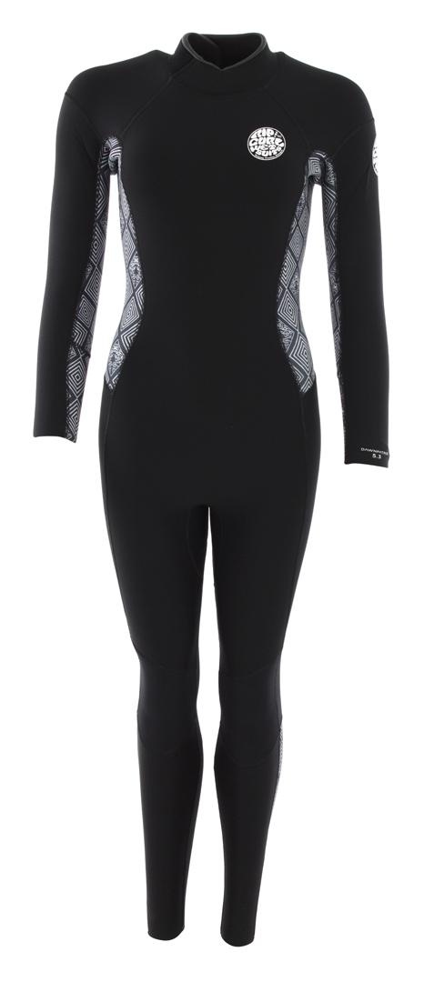 a62c83cb8d Rip curl WOMENS DAWN PATROL 5 3 BACK ZIP Full Suit 2019 black white ...