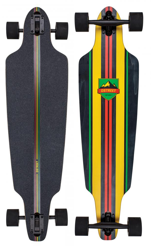 d street stinger drop through longboard 2016 rasta original komplett set 5055836508539 ebay. Black Bedroom Furniture Sets. Home Design Ideas