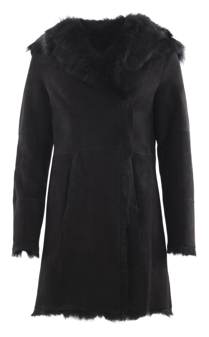 Shearling mantel braun