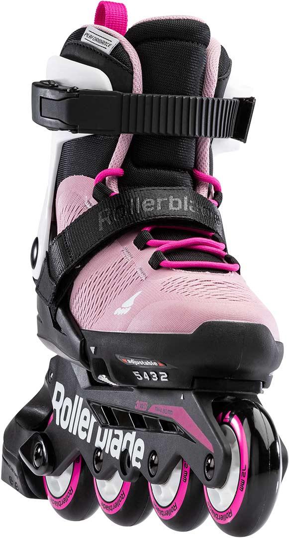 Pink//White 210 Rollerblade Girls MICROBLADE G Inline Skates