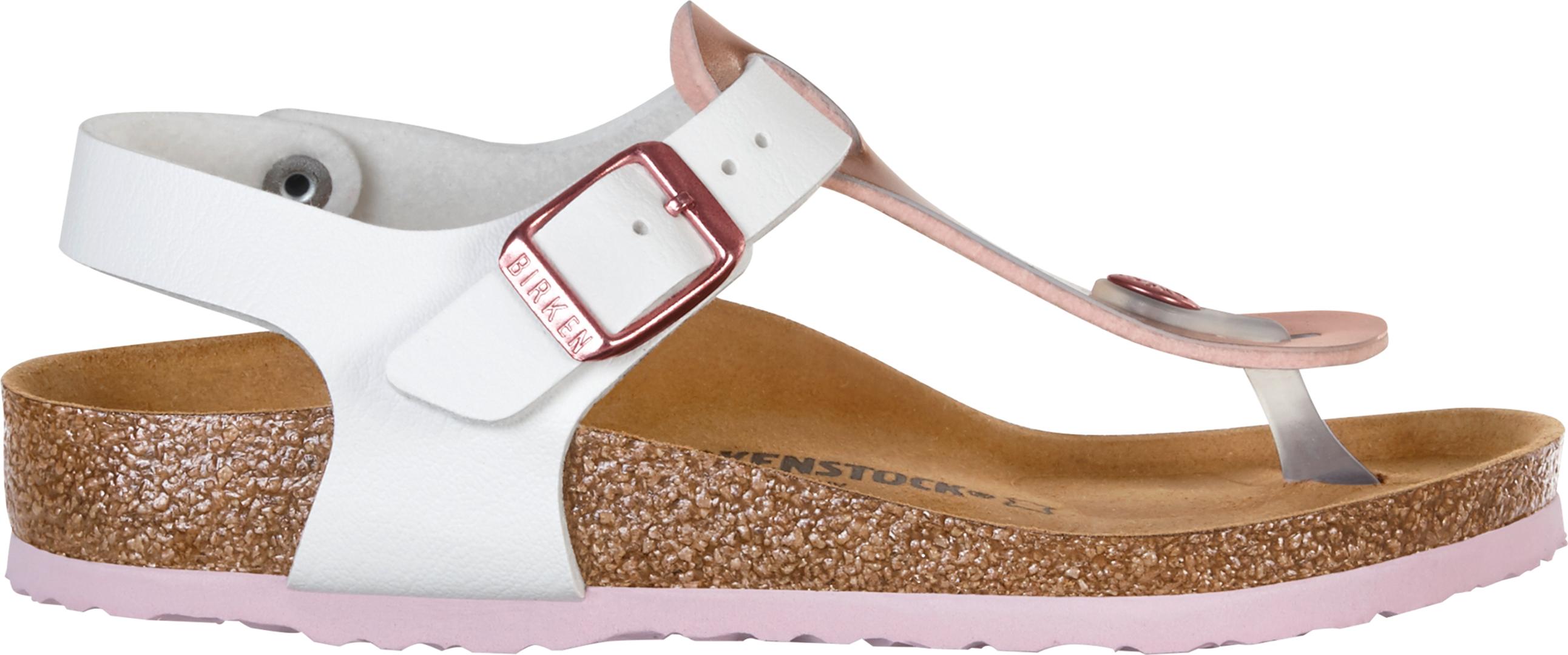 Birkenstock KAIRO KIDS SLIM Sandal 2018 soft metallics rose white ... 529c80c586