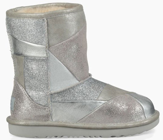 ugg classic short ii patchwork kids boots 2019 silver warehouse one rh warehouse one de