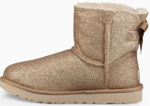 Ugg MINI BAILEY BOW SPARKLE Boots 2019 gold   Warehouse One 87cc2102c7