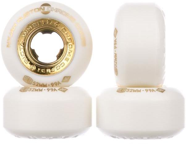 NYJAH HOUSTON CHROME CORE 52mm 4 Pack Wheels white