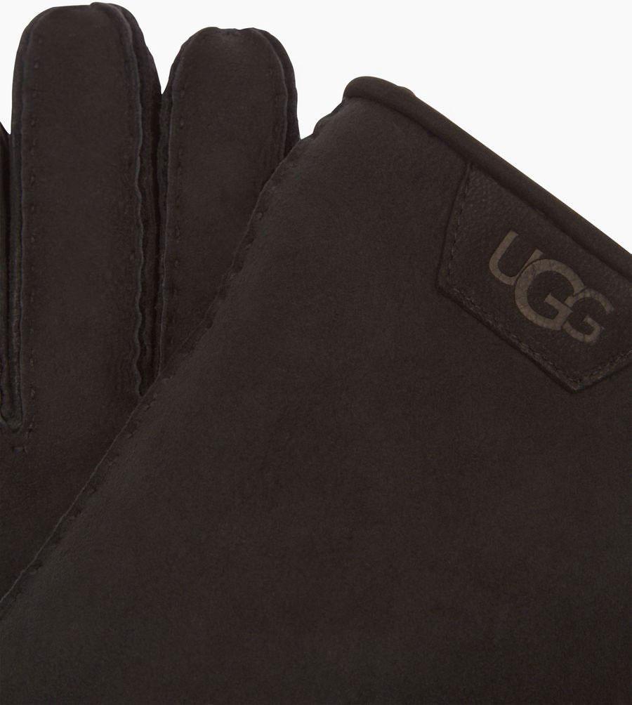 b7ed5e955ef SHEARLING LEATHER TRIM MEN Glove 2019 black