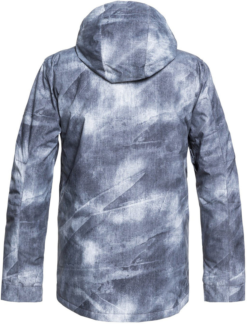 Quiksilver MISSION PRINTED Jacket 2019 grey simple texture ... ebb62dc2e29