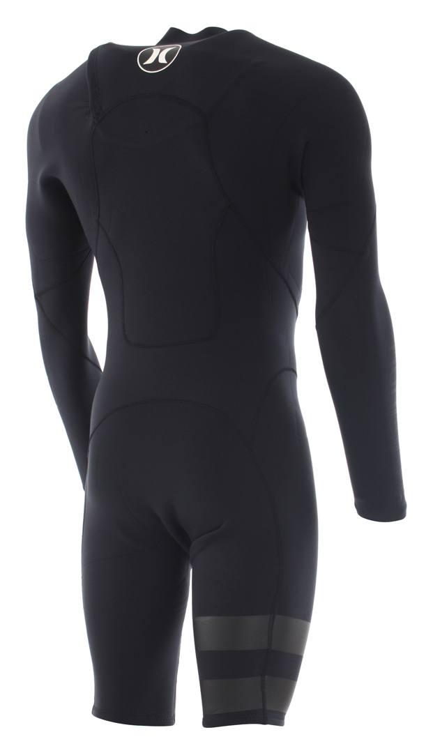 Hurley FUSION 202 LS CHEST ZIP Shorty black  135ec5465