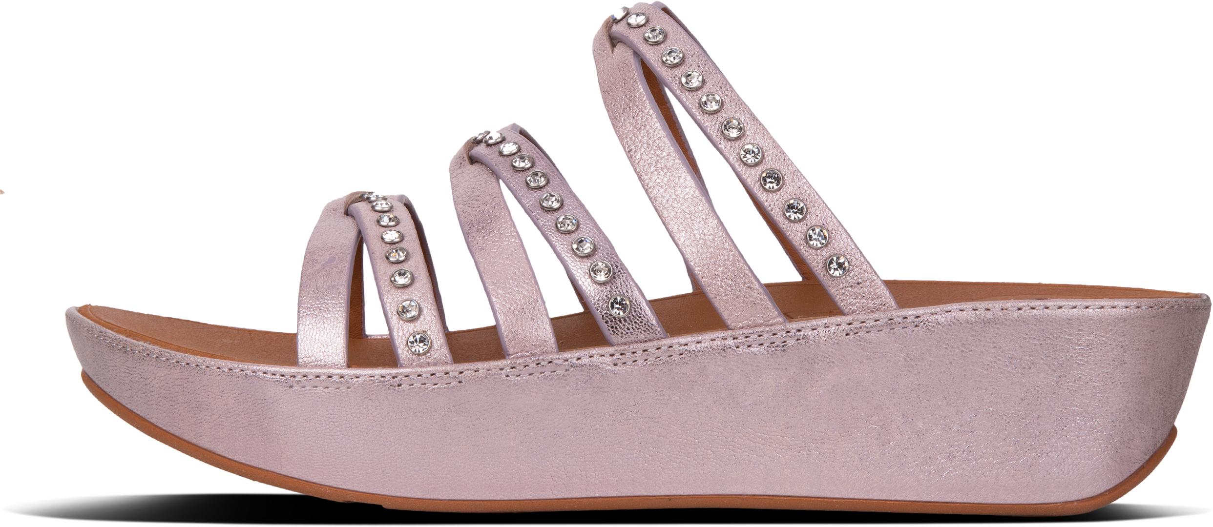 5cdfc258fb01 Fitflop LINNY SLIDE CRYSTAL Sandal 2018 blush metallic nude ...