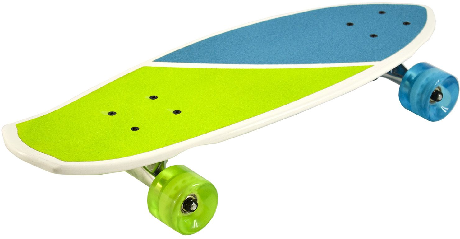 Longboard Skateboard Cruiser KRYPTONICS ORIGINAL TORPEDO 22.5 hawaii yellow Mini