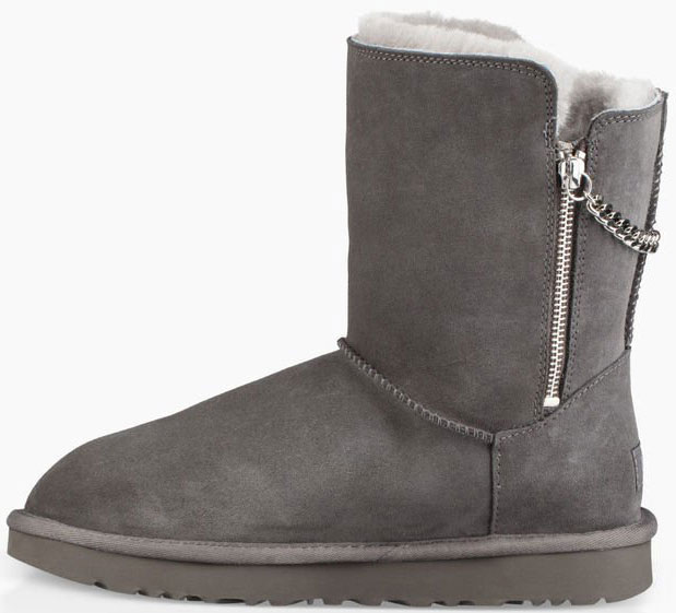 7051154bfe1 CLASSIC SHORT SPARKLE ZIP Boot 2019 charcoal