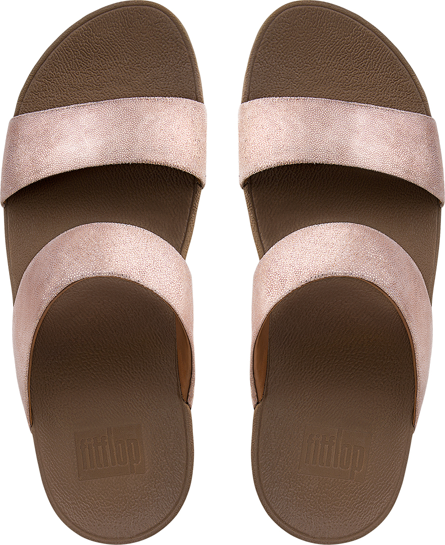 shimmy suede slide sandale 2018 rose gold warehouse one. Black Bedroom Furniture Sets. Home Design Ideas
