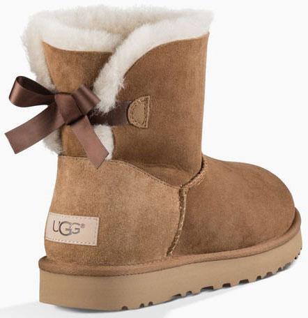 Ugg MINI BAILEY BOW II Boot 2019 chestnut   Warehouse One 29a3947507